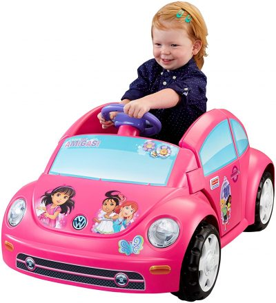 Power Wheels Nickelodeon Dora and Friends Volkswagen New Beetle
