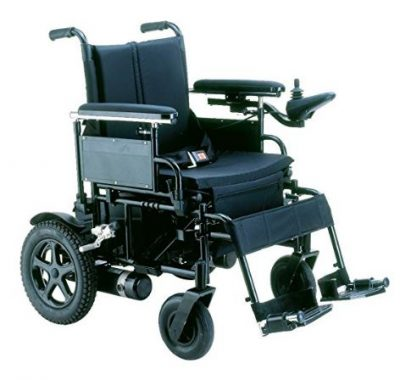 "Drive Medical CPN22FBA Cirrus Plus Heavy-Duty Folding Power Wheelchair Rear-Wheel Drive, 22"" Sling Seat, 400 lbs Weight Capacity, 5 mph Top Speed, 15 miles Maximum Range"