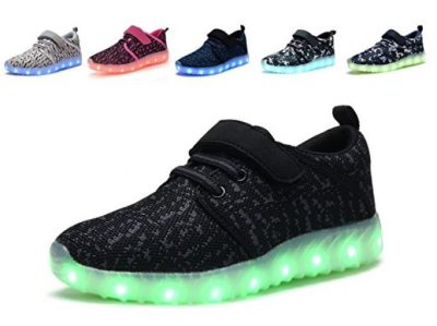 Denater LED Light Up Shoes Kids Girls Boys Breathable Flashing Sneakers