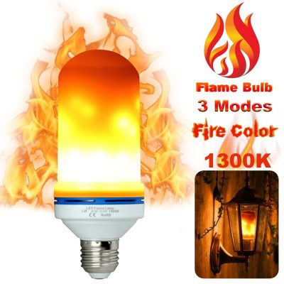 LED Flame Light Bulbs Fire Flicker Effect Lamp Decorative LED Bulb with Flickering 5W Flame Decorations LED Lights E26 Standard Base Vintage Unique Outdoor Fire Lights for Antique Lantern/ Bar/ Hotel TOP 10 BEST LED FLAME BULB IN 2019 REVIEWS
