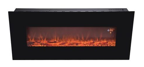 "BEAMNOVA 50"" Electric Wall Mounted Fireplace Heater Smokeless Ventless Adjustable Heat"