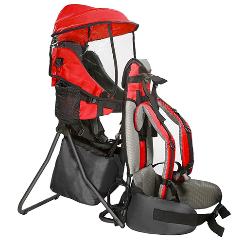 Baby-Back-Packs-Cross-Country-Carriers-Stand-Child-Kids-with-Sun-Shade-Visors