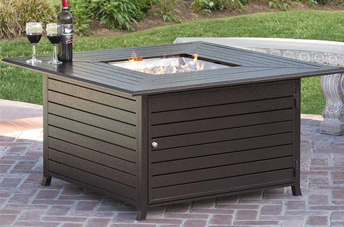 BCP Extruded Aluminum Gas Outdoor Fire Pit Table With Cover