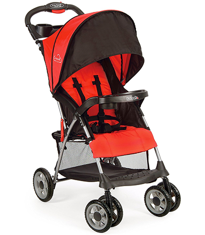 Kol-craft-Cloud-+-Lightweight-Stroller,-5-Point-Safety-System-with-Multi-Position-Recline-Seat.