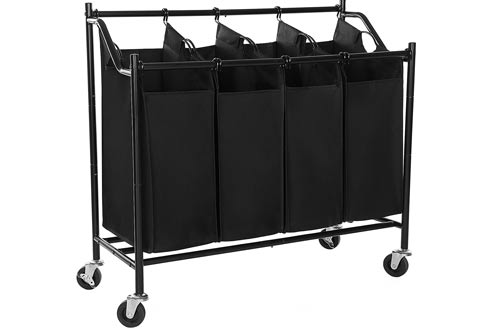 Rolling Laundry Sorter Storage Cart with Wheels