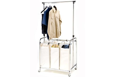 Heavy-Duty Laundry Hamper Sorter Cart