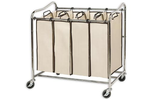 Heavy Duty Rolling Laundry Sorter Cart