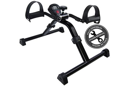 Medical Folding Pedal Exerciser with Electronic Display for Legs and Arms