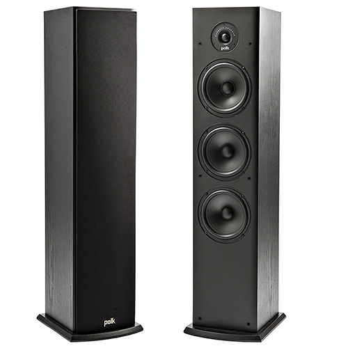 Polk-Audio-T50-Home-Theater-and-Music-Floor-Standing-Tower-Speaker-(Single,-Black)