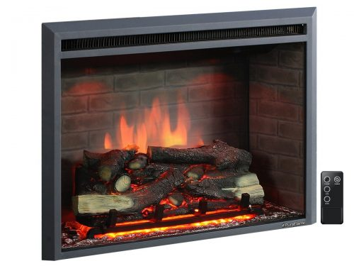 "Roll over image to zoom in PuraFlame PuraFlame 33"" Western Electric Fireplace Insert with Remote Control"