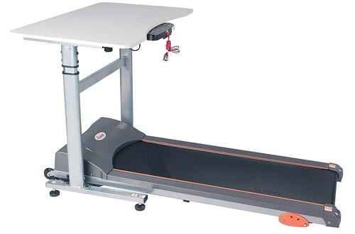 Sunny Health & Fitness Treadmill Desk Workstation with Power Adjustable Table