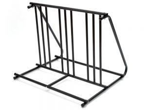 6 Bikes Bicycle Stand Parking Garage Home Storage Organizer Cycling Rack Black
