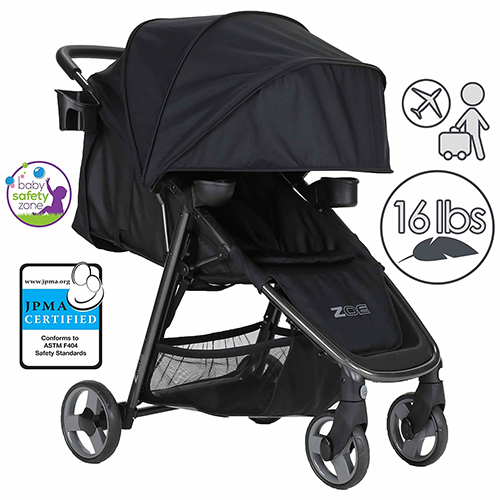 ZOE-XLT-DELUXE-Full-Sized-Lightweight-Travel-&-Everyday-Umbrella-Stroller-System-(Aqua)