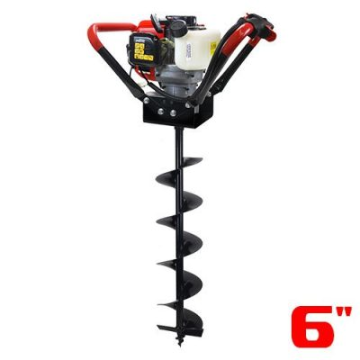 "XtremepowerUS V-Type 55CC 2 Stroke Gas Post Hole Digger One Man Auger (Digger + 6""Bit)"