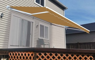 ALEKO 12x10 Feet Retractable Home Patio Awning, Sand