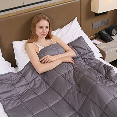 Weighted Blanket by Zonli, Weighted Sensory Blanket for adults, Cotton,48x72'' 15LBS, Stress and Anxiety Relief, Helps Calm AAD, ADHD, Autism