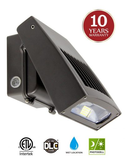 60W LED Wall Pack Light with Dusk-to-Dawn Photocell, 0-90°Adjustable Head, Waterproof Security Lighting Fixture 300W HPS/HID Equivalence 5000K Daylight 6600Lm, 10-year Warranty by Kadision