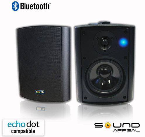 Bluetooth-525-IndoorOutdoor-Weather-proof,-Patio-Speakers-(Black--pair)--Sound-Appeal