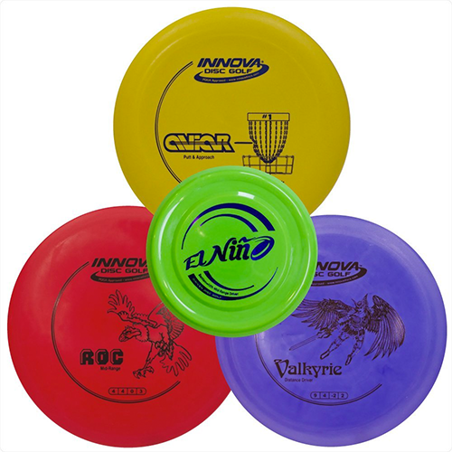 Driven-Disc-Golf-Set-(Three-discs-and-a-free-Mini-disc)