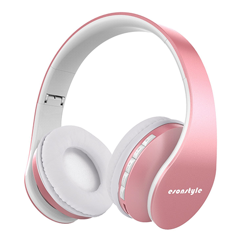 Esonstyle-Rose-Golden-Over-Ear-Foldable-Wireless-Headphone