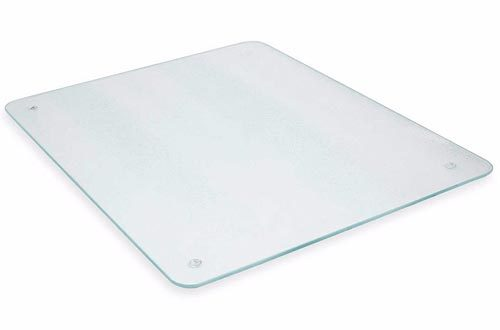 "HUGE Counter Protector 16"" x 20"" Clear Glass Footed Cutting Board"