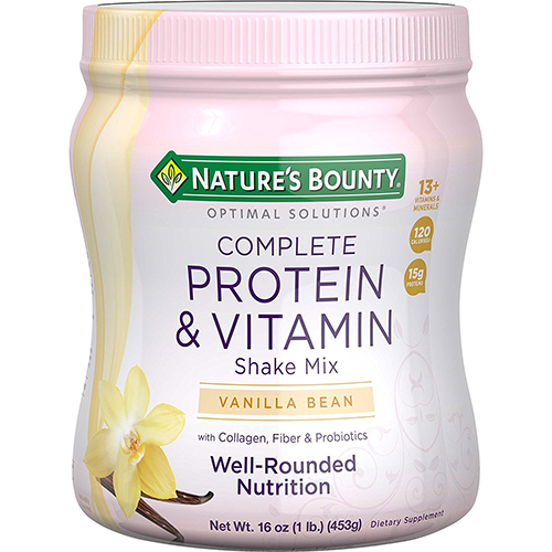 Nature's-Bounty-Optimal-Protein-Shake-Vanilla,-16-Jar