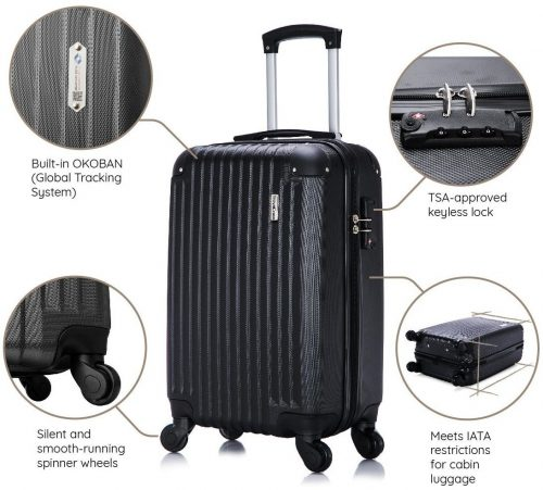 TravelCross Philadelphia Carry On Lightweight Hardshell Spinner Luggage- Top 10 Best carry on luggage in 2020 Reviews