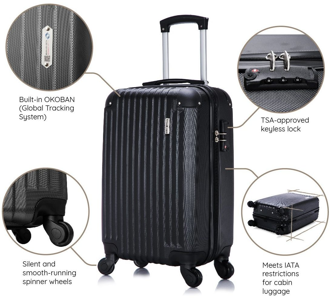 TravelCross Philadelphia Carry On Lightweight Hardshell Spinner Luggage- Top 10 Best carry on luggage in 2018 Reviews