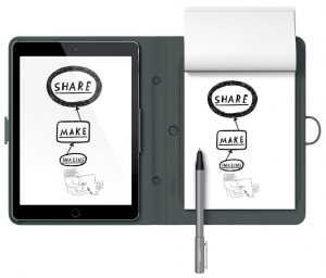 Wacom Bamboo Spark Smart Folio Digital Ballpoint Pen with Snap-Fit for iPad Air 2
