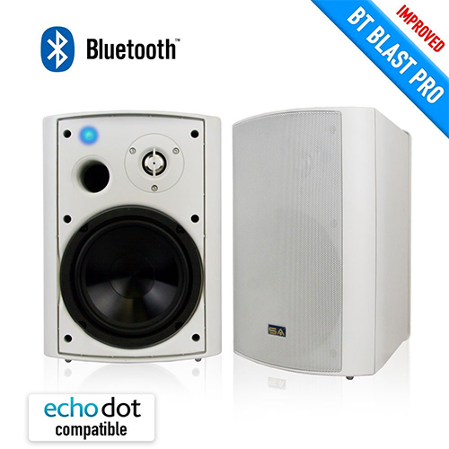 Wireless-Outdoor-Speaker,-Bluetooth-6.50″-IndoorsOutdoor-Weather-proof,-Patio-Speaker,-White