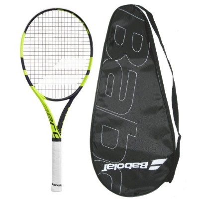 Babolat 2018 Pure Aero Lite Tennis Racquet - Strung with Cover