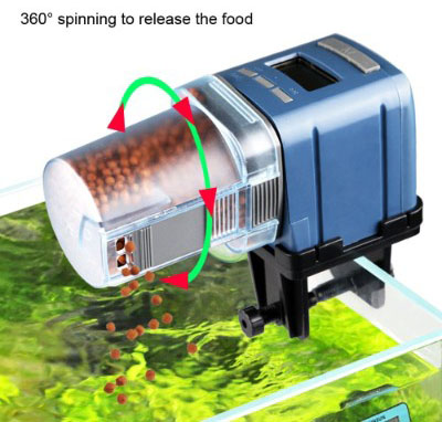 COODIA Auto Fish Food Feeder Battery Operated Automatic Aquarium Tank Timer