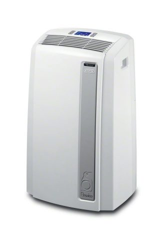 DeLonghi PACAN120EW-3A Pinguino Whisper Cool Portable Air Conditioner with Real Feel Mode, 450 sq. ft.