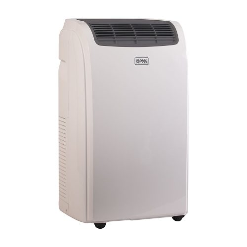 BLACK+DECKER BPACT08WT, 8000 BTU Portable Air Conditioner Unit, Window Vent Kit, 4 Caster Wheels, White