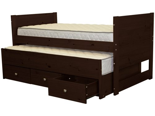 Bedz-King-Captains-Trundle-Cappuccino captains bed