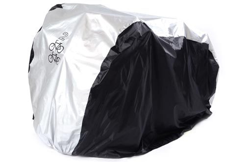 2 Bikes Cover, SAVFY 180T Heavy Duty Outdoor Waterproof Bicycle Cover - Sutis Mountain Bike, Road Bike