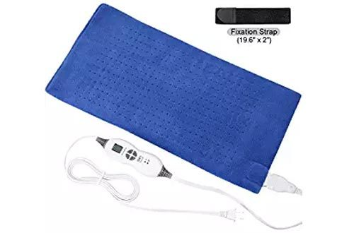 "TechLove Electric Heating Pad with Auto Shut off Electric Moist Heated Therapy For Neck Shoulder and Back Pain Relief Extra Large 12"" x 24"""