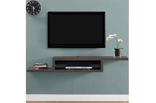 "Martin Furniture IMAS360S Asymmetrical Floating Wall Mounted TV Console, 60"", Skyline Walnut"