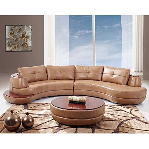 Global-Furniture-Bonded-Leather-Sectional Curved Sofas