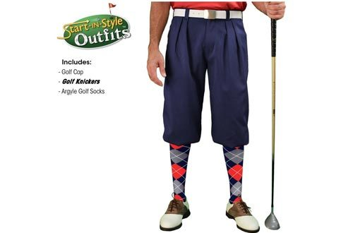 Golf Knickers Start-In-Style Outfit - Mens - Navy