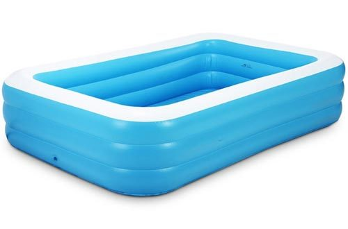 Garden Inflatable Family Lounge Square Swimming Pool Blue