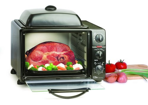 MaxiMatic ERO-2008S Elite Cuisine 6-Slice Toaster Oven with Rotisserie and Grill-Griddle Top