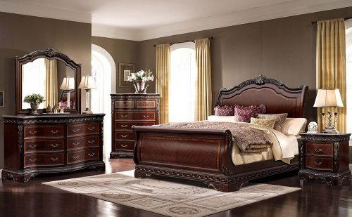 McFerran-Bedroom-Headboard-Foot-board-B188 Sleigh Beds