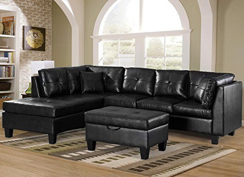 Merax-3-piece-Sectional-Storage-Cushions Chaise Sofas
