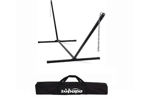 Zupapa 550 LBS Weight Capacity Heavy duty Hammock Stand 2 Steel Chains 1 Carry Bag fit for 12 - 15 FT Hammock Chair
