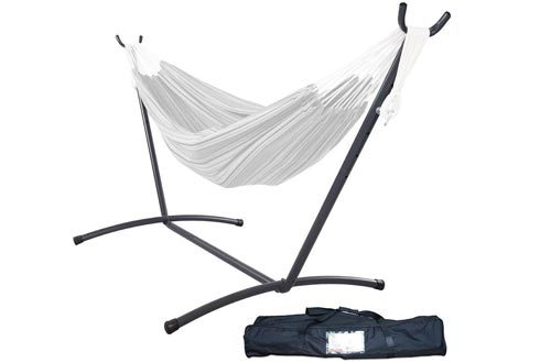 Lazy Daze Hammocks 9 feet Space Saving Steel Hammock Stand Portable Hammock Stand with Carrying Bag Only, Capacity 450 Pounds