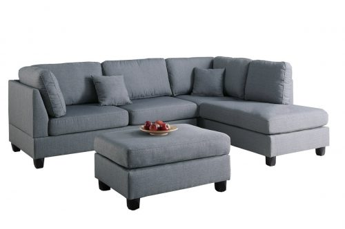 Poundex-F7606-Bobkona-Linen-Like-Sectional