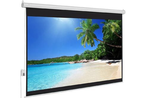 Best Choice Products Motorized Electric Auto HD Projector Screens, 100-Inch, 4:3 Display