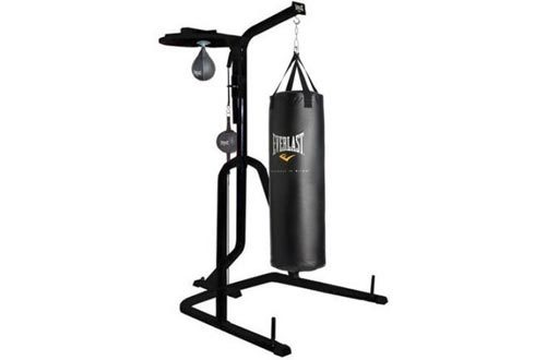 Three-Station Heavy Duty Punching Bag Stands by Everlast , 54.00 x 54.00 x 84.00 Inches