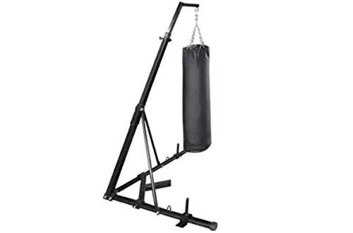 Happybuy Free Standing Boxing Bag Stand Foldable Single Station Heavy Bag Stand for Home Fitness